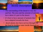 biome description
