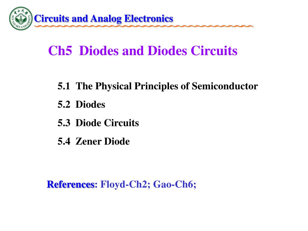 Ppt Ch5 Diodes And Circuits Powerpoint Presentation Id In Id2991944
