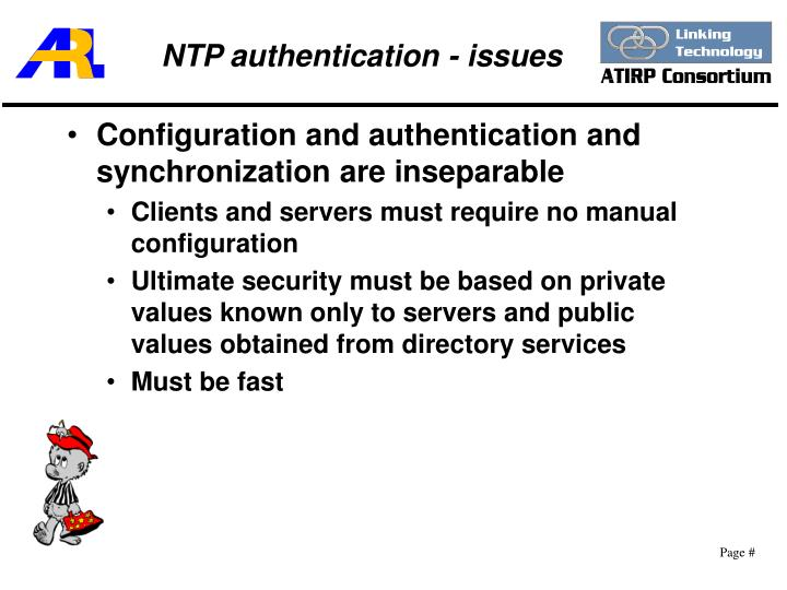 NTP authentication - issues