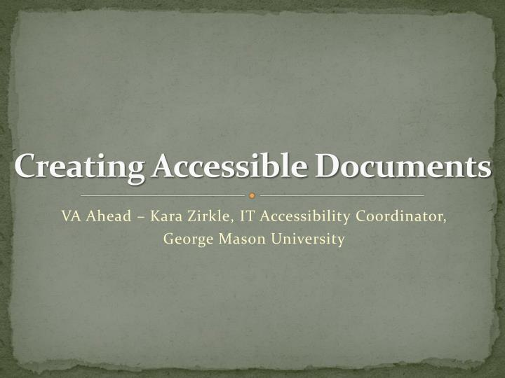 creating accessible documents n.