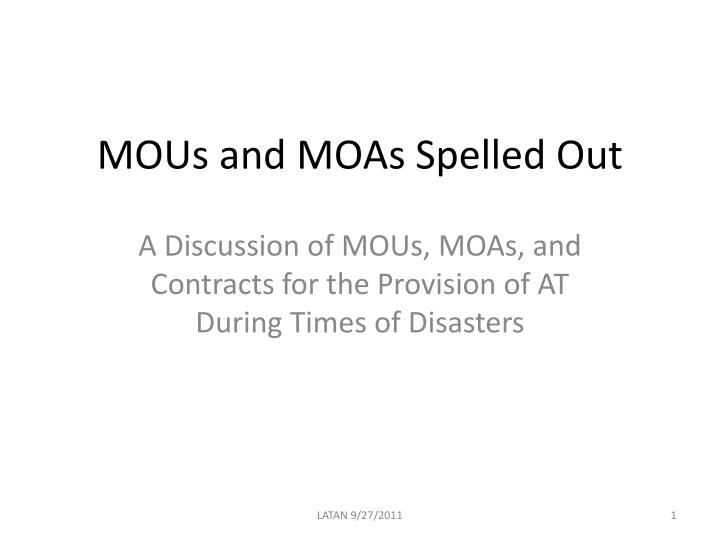 mous and moas spelled out n.