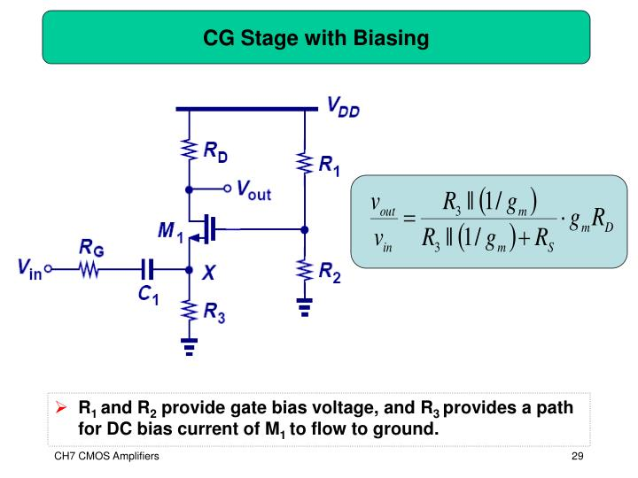 CG Stage with Biasing