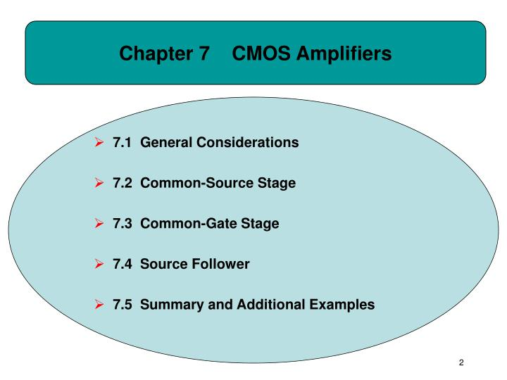 Chapter 7 cmos amplifiers
