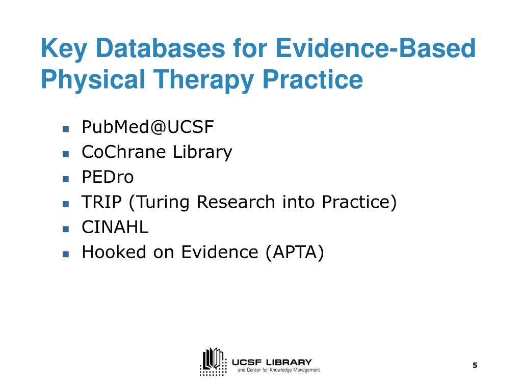 PPT - Finding Evidence to Support Physical Therapy Clinical