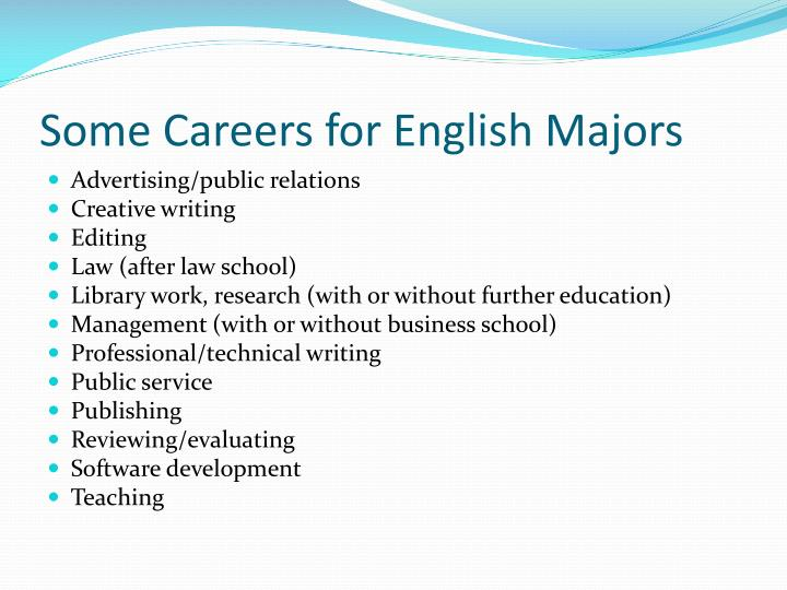 Some Careers for English Majors