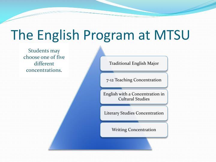 The English Program at MTSU