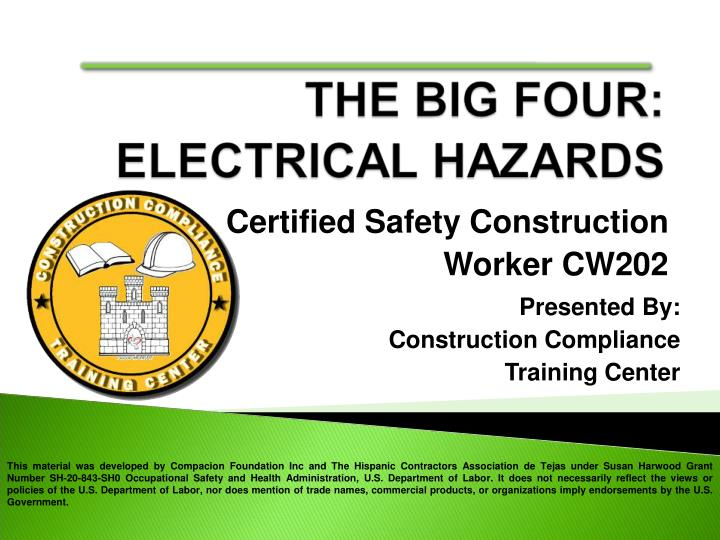 certified safety construction worker cw202 n.