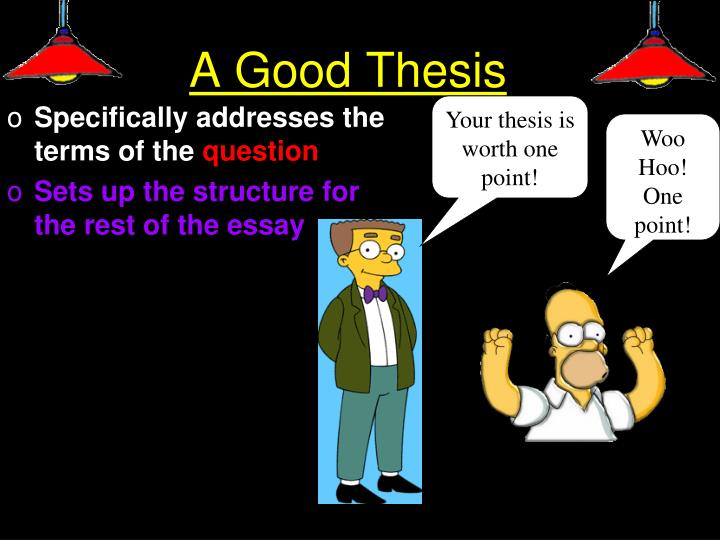 A Good Thesis