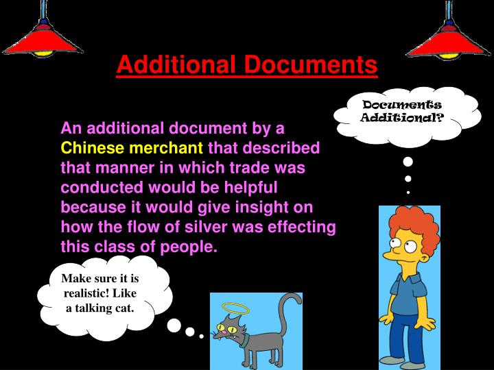 Additional Documents