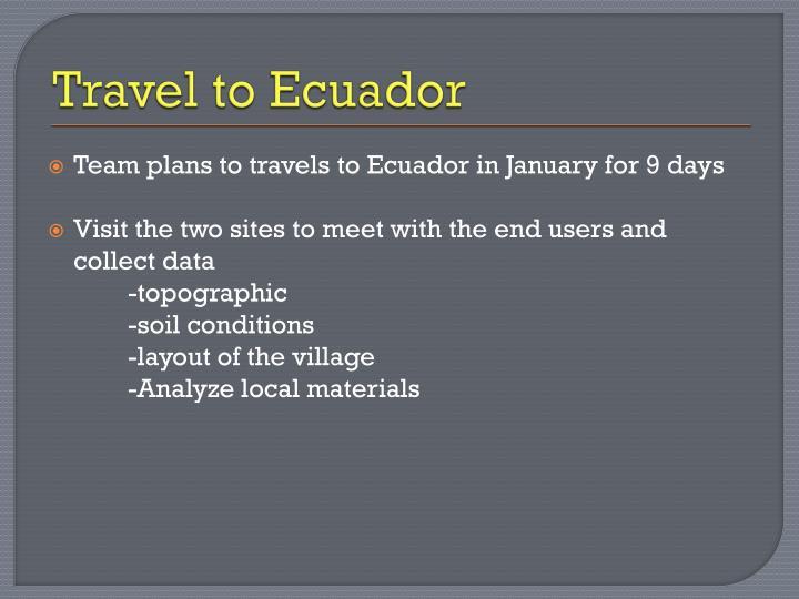 Travel to Ecuador
