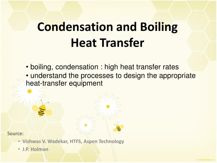 condensation and boiling heat transfer n.
