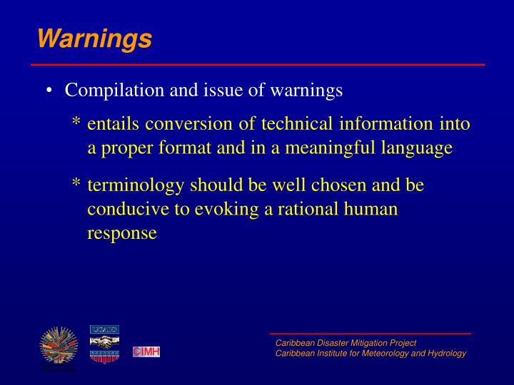 Warnings