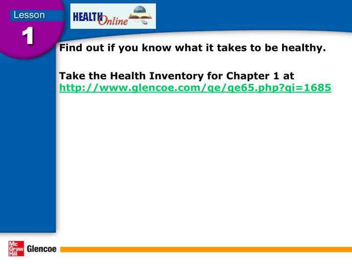 Find out if you know what it takes to be healthy.