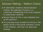 decision making pattern choice
