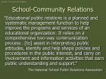 school community relations