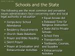 schools and the state