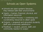 schools as open systems