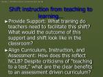 shift instruction from teaching to learning1