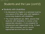 students and the law cont d1