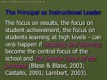 the principal as instructional leader