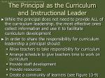 the principal as the curriculum and instructional leader