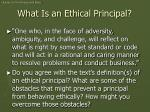 what is an ethical principal