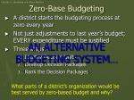 zero base budgeting