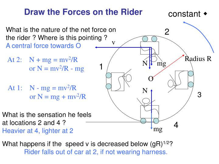 Draw the Forces on the Rider