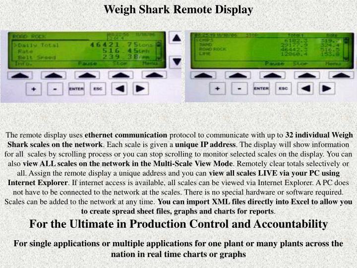 Weigh Shark Remote Display