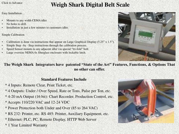 Weigh Shark Digital Belt Scale