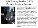 light emitting diodes led periodic trends in practice