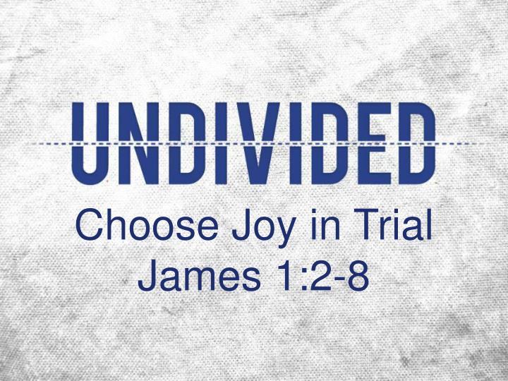 Choose Joy in Trial