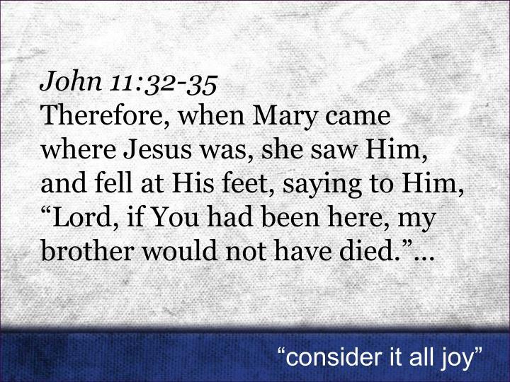 John 11:32-35