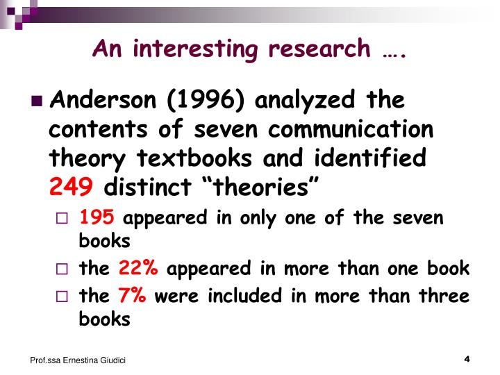 An interesting research
