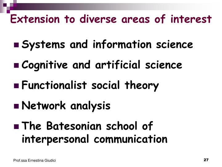 Extension to diverse areas of interest