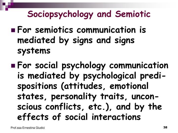Sociopsychology and Semiotic