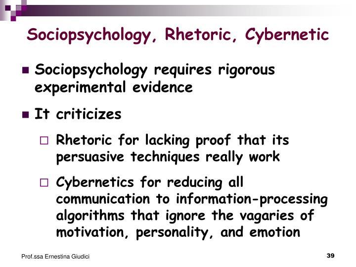 Sociopsychology, Rhetoric, Cybernetic