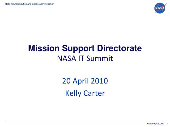 mission support directorate nasa it summit n.