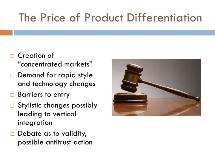 The Price of Product Differentiation