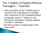 the 7 habits of highly effective teenagers tutorials