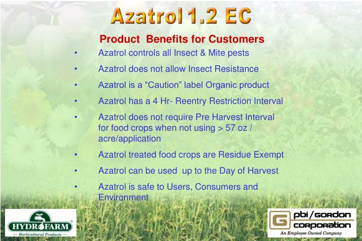 Product  Benefits for Customers