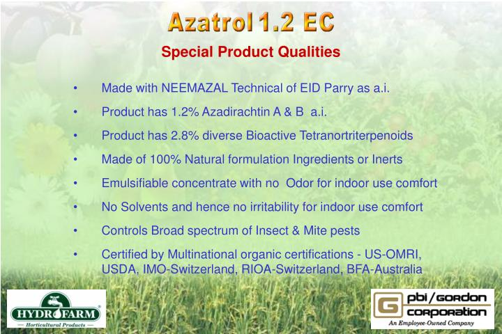 Special Product Qualities