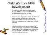 child welfare nbb development