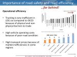 importance of road safety and road efficiency2