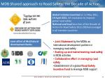 mdb shared approach to road safety the decade of action