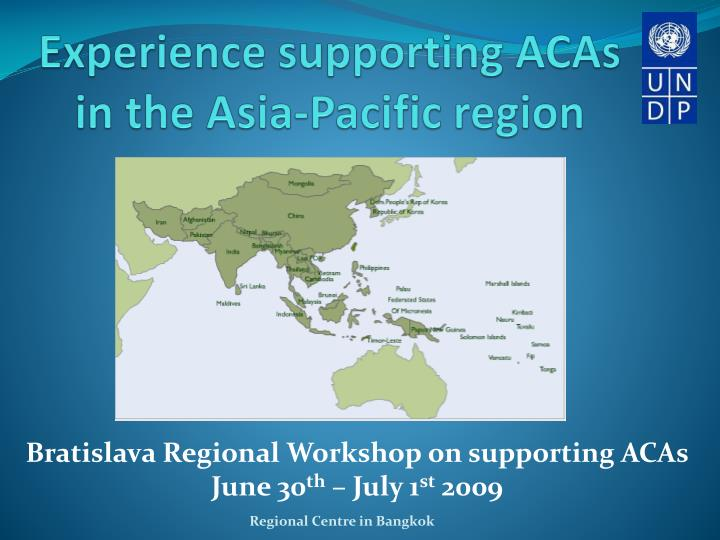 experience supporting acas in the asia pacific region n.