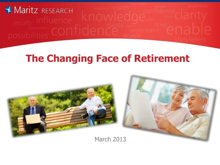 the changing face of retirement n.