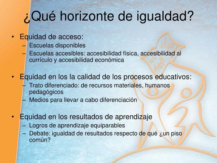Equidad de acceso: