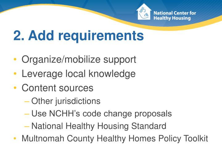 2. Add requirements