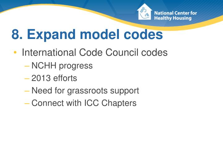 8. Expand model codes